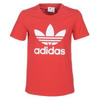 Abbigliamento Donna T-shirt maniche corte adidas Originals TREFOIL TEE Rosso / Luxuriant