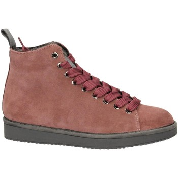 Scarpe Donna Sneakers alte Panchic P01 MID CUT SUEDE LINING ECO FUR brownrose-rosa