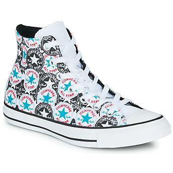 Scarpe Donna Sneakers alte Converse CHUCK TAYLOR ALL STAR LOGO PLAY Bianco / Nero / Multi
