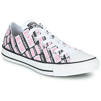 Scarpe Donna Sneakers alte Converse CHUCK TAYLOR ALL STAR LOGO PLAY Bianco / Rosa / Nero