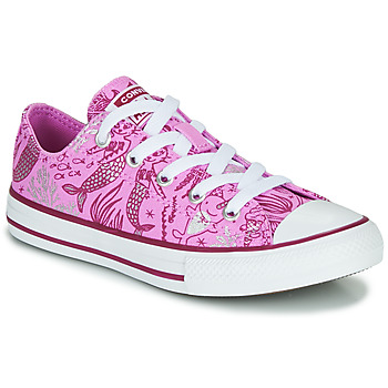 Scarpe Bambina Sneakers alte Converse CHUCK TAYLOR ALL STAR UNDERWATER PARTY Rosa / Multi