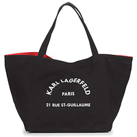 Borse Donna Tote bag / Borsa shopping Karl Lagerfeld RUE ST GUILLAUE CANVAS TOTE Nero