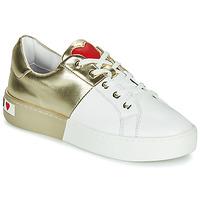 Scarpe Donna Sneakers basse Love Moschino BI-COLOR SHOES Bianco / Oro