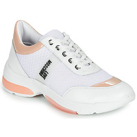Scarpe Donna Sneakers basse Love Moschino RUN LOVE Bianco / Rosa