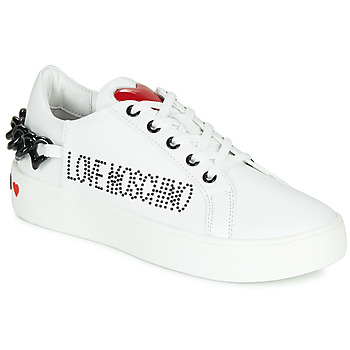 Scarpe Donna Sneakers basse Love Moschino CHAIN HEART Bianco