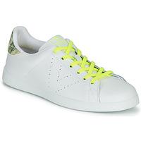 Scarpe Donna Sneakers basse Victoria TENIS PIEL FLUO Bianco / Giallo