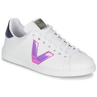 Scarpe Donna Sneakers basse Victoria TENIS VINILO Bianco / Blu