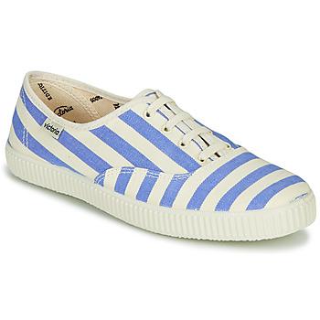 Scarpe Donna Sneakers basse Victoria NUEVO RAYAS Bianco / Blu