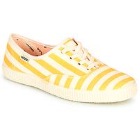 Scarpe Donna Sneakers basse Victoria NUEVO RAYAS Giallo / Bianco