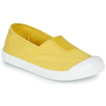Scarpe Bambina Sneakers basse Victoria CAMPING TINTADO Giallo
