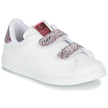 Scarpe Bambina Sneakers basse Victoria TENIS VELCRO G Bianco