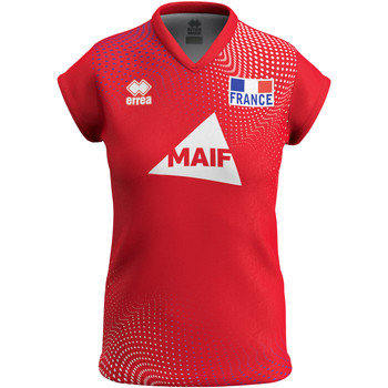Abbigliamento Donna T-shirt maniche corte Errea Maillot femme third Equipe de france 2020 rouge