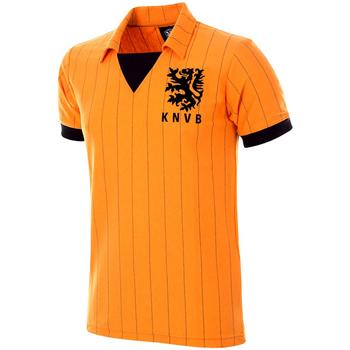 Abbigliamento Uomo T-shirt maniche corte Copa Football Maillot rétro Pays-Bas 1983 orange