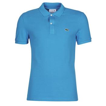 Abbigliamento Uomo Polo maniche corte Lacoste PH4012 SLIM Blu / Turquoise