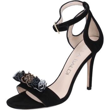 Scarpe Donna Sandali Lella Baldi sandali camoscio nero