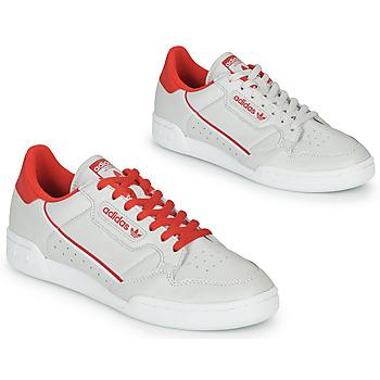 Scarpe Sneakers basse adidas Originals CONTINENTAL 80 Beige / Rosso
