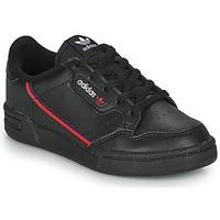 Scarpe Unisex bambino Sneakers basse adidas Originals CONTINENTAL 80 C Nero