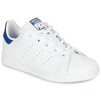 Scarpe Unisex bambino Sneakers basse adidas Originals STAN SMITH C Bianco / Blu