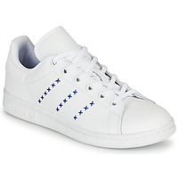 Scarpe Unisex bambino Sneakers basse adidas Originals STAN SMITH J Bianco / Blu