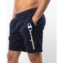 Abbigliamento Uomo Shorts / Bermuda Champion Short Uomo Felpati con Scritta Blu