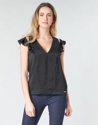 Abbigliamento Donna Top / Blusa Guess SS DAHAB TOP Nero