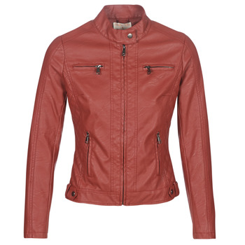 Abbigliamento Donna Giacca in cuoio / simil cuoio Moony Mood AW075-ROUGE Rosso