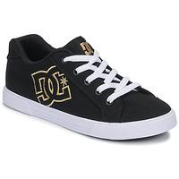 Scarpe Donna Sneakers basse DC Shoes CHELSEA TX Nero / Oro