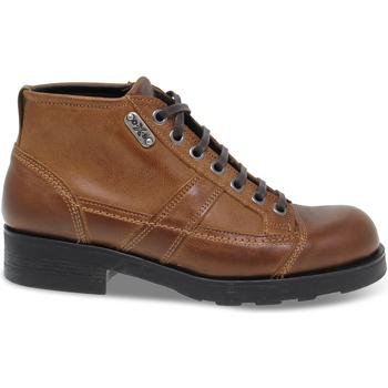 Scarpe Uomo Stivaletti OXS Tronchetto  FRANK 1900 in pelle marrone marrone