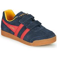 Scarpe Unisex bambino Sneakers basse Gola HARRIER VELCRO Blu / Rosso