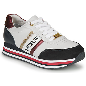 Scarpe Donna Sneakers basse Tom Tailor  Bianco / Blu / Rosso