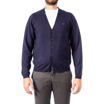 Abbigliamento Uomo Gilet / Cardigan Sun68 K29103 07 NAVY Blu