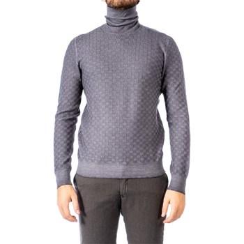 Abbigliamento Uomo Maglioni La Fileria 57173/22721/011 GRI Maglia Uomo Uomo Grigio Scuro Grigio Scuro