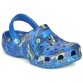 Scarpe Bambino Zoccoli Crocs CLASSIC SHARK CLOG Blue