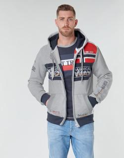 Abbigliamento Uomo Felpe Geographical Norway FLYER Grigio / Chiné