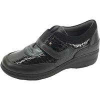 Scarpe Donna Mocassini Sabatini abatini S2902 Perlato Nero Sneakers confort Donna pelle vernice Nero