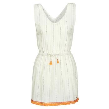 Abbigliamento Donna Abiti corti Banana Moon MARZUL MANDALO Bianco / Arancio