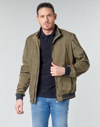 Abbigliamento Uomo Giubbotti Geox TEVERE BOMBER Verde / Bronzo
