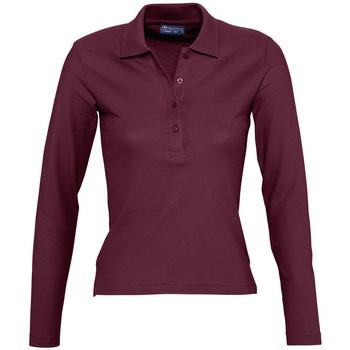 Abbigliamento Donna Polo maniche lunghe Sols PODIUM COLORS Violeta