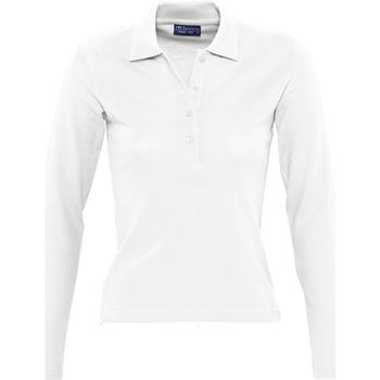 Abbigliamento Donna Polo maniche lunghe Sols PODIUM COLORS Blanco