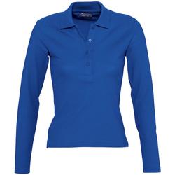 Abbigliamento Donna Polo maniche lunghe Sols PODIUM COLORS Azul