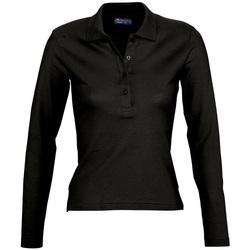Abbigliamento Donna Polo maniche lunghe Sols PODIUM COLORS Negro