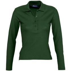 Abbigliamento Donna Polo maniche lunghe Sols PODIUM COLORS Verde