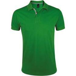Abbigliamento Uomo Polo maniche corte Sols PORTLAND MODERN SPORT Verde