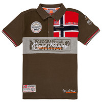 Abbigliamento Bambino Polo maniche corte Geographical Norway KIDNEY Kaki