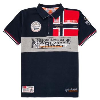 Abbigliamento Bambino Polo maniche corte Geographical Norway KIDNEY Marine