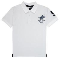 Abbigliamento Bambino Polo maniche corte Geographical Norway KAMPAI Bianco