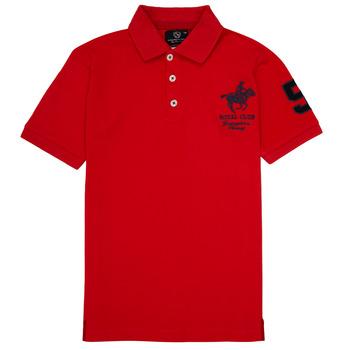 Abbigliamento Bambino Polo maniche corte Geographical Norway KAMPAI Rosso
