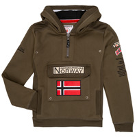 Abbigliamento Bambino Felpe Geographical Norway GYMCLASS Kaki