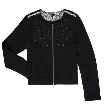 Abbigliamento Bambina Gilet / Cardigan Ikks LOUKAS Nero