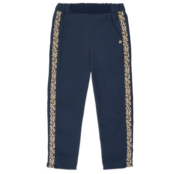Abbigliamento Bambina Pantaloni morbidi / Pantaloni alla zuava Ikks NATHAN Marine